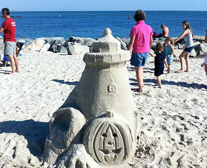 Sand sculpture competition is always strong